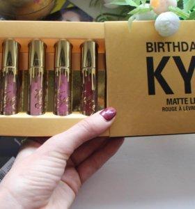 Набор матовой жидкой помады kylie birthday edition