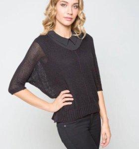 Пуловер чёрный сетчатый