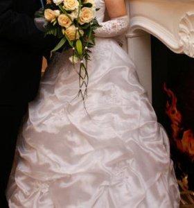 Свадебное платье на кольцах