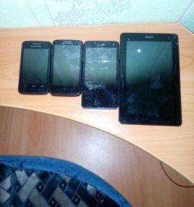 Продам на запчасти!!! 2 телефона Alcatel onetouch