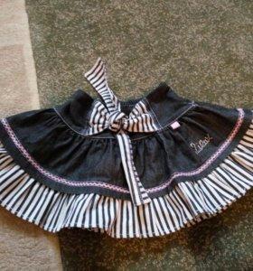 Джинсовая юбка Lilax на 98см