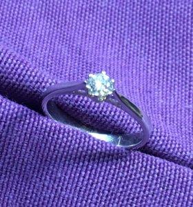 Кольцо с бриллиантом 0,25ct.