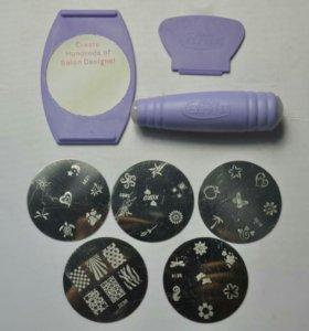 Штампы рисунки для ногтей