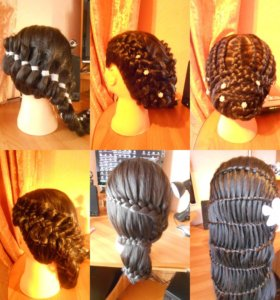 Причёски из кос