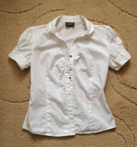 Белая блузка -рубашка