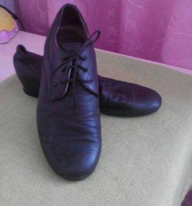 Туфли танцевальные натуральная кожа. 36-36,5 разме