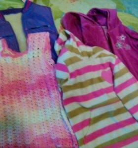 Одежда пакетом для девочки 4-5лет
