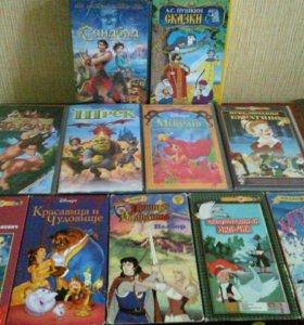 Мультфильмы на кассетах VHS.