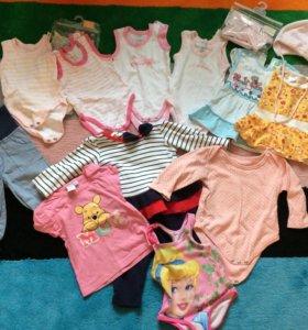 Пакет одежды на девочку 62-68