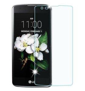 Защитное стекло на LG K7