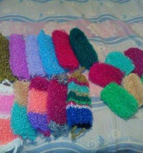 Мочалки ручной вязки,можно на заказ,2-3 дня