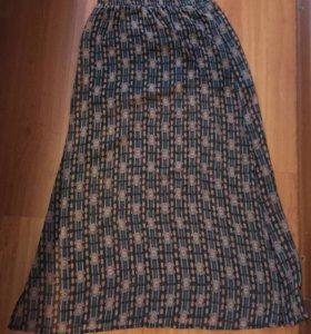Новая юбка шифон с арнаментом