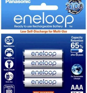 Аккумуляторы panasonic eneloop AA/AAA