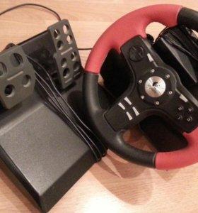 Джйстик-руль игровой с педалями