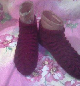 Носки вязаные 100% шерсть