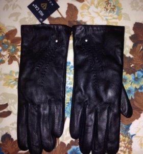Женские Кожанные перчатки