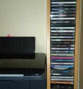 Полка навесная для cd дисков и принтера