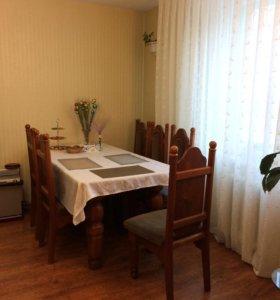 Стол со стульями из массива сосны