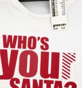 Новая футболка с принтом Santa