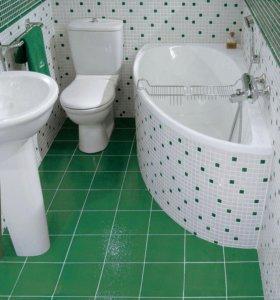 Ванные комнаты ремонт.плитка сантехника пластик.