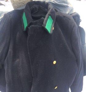 Пальто-шинель темно синее ВОХР
