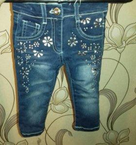 Детские тёплые джинсы