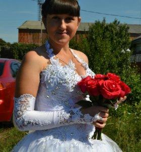 Продам красивое свадебное платье