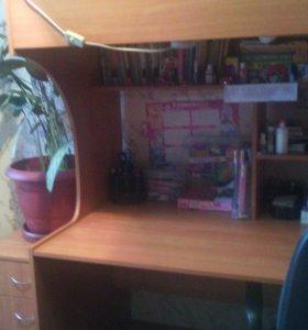 Детский уголок кровать, письменный стол, шифонер.