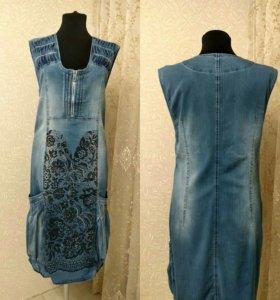 Платье р. 50, 52 джинсовое 💙