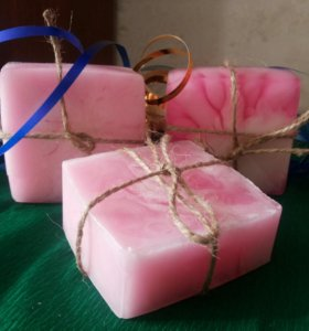 """Органическое мыло """"Розовые облака"""""""