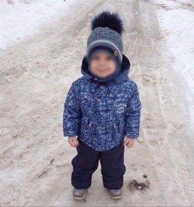 Костюм для мальчика+подарок новая шапка и перчатки