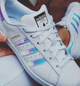 Кожаные Кроссовки Adidas superstar