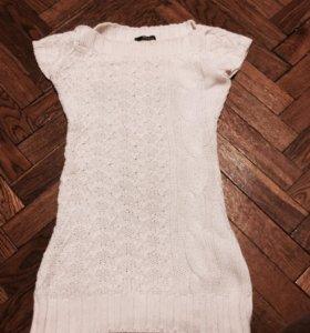 Платье туника вязанное