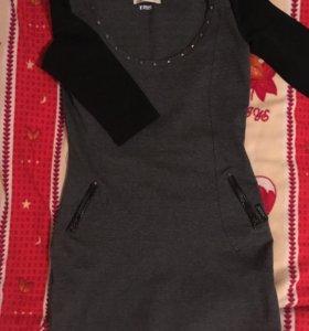 Платье Bershka, на девушку роста ниже 165