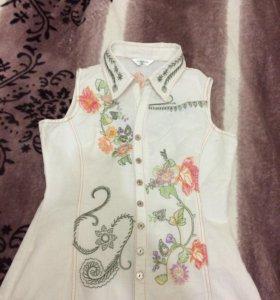 Блузка приталенная хб 🍇