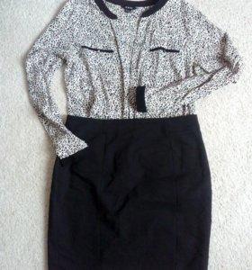 Блуза+ юбка 46 р