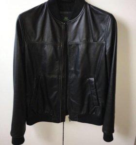 Куртка мужская кожаная Lacoste