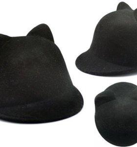 Шляпа / шапочка фетровая с кошачьими ушками 🐱
