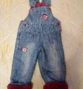 Полукомбинезон джинсовый