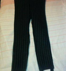 Тёплые вязанные штаны детские и подросток