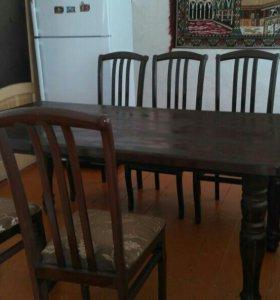 Стол и 6 стульев