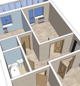 3-комнатная квартира в Туринске