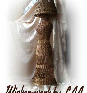 Торшер плетеный