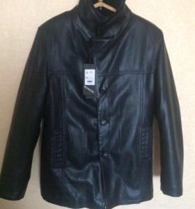 Новая кожаная мужская куртка