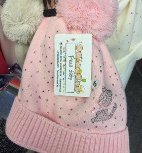 Детская шапка для девочки дети
