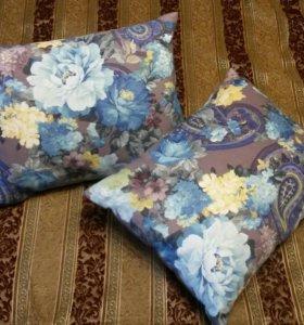Две декоративные подушки, ручная работа
