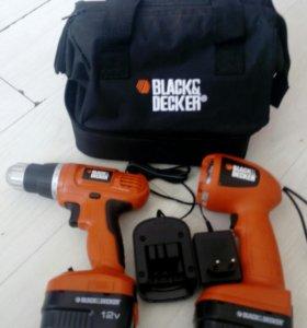 Шуруповерт black & Decker 12 v