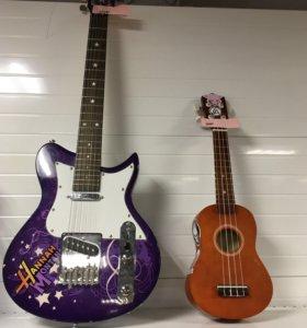 Электро-гитара и акулеле