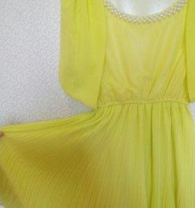 платье шифон 42р.