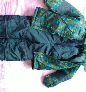 Зимняя куртка и комбинезон.